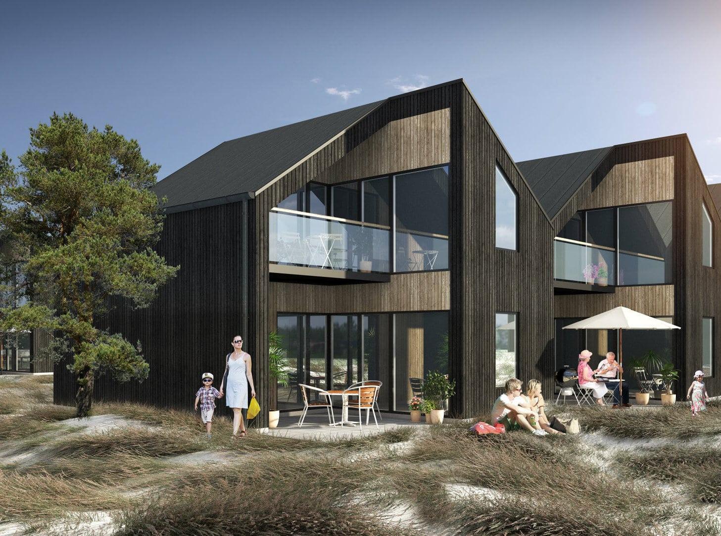 62 unikke feriehuse ved dansk havn og strand klar til åbent hus